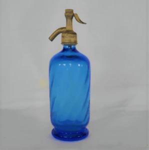 bouteille siphon bleu déco