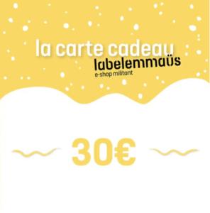 carte cadeau label emmaüs cadeau de noël engagé